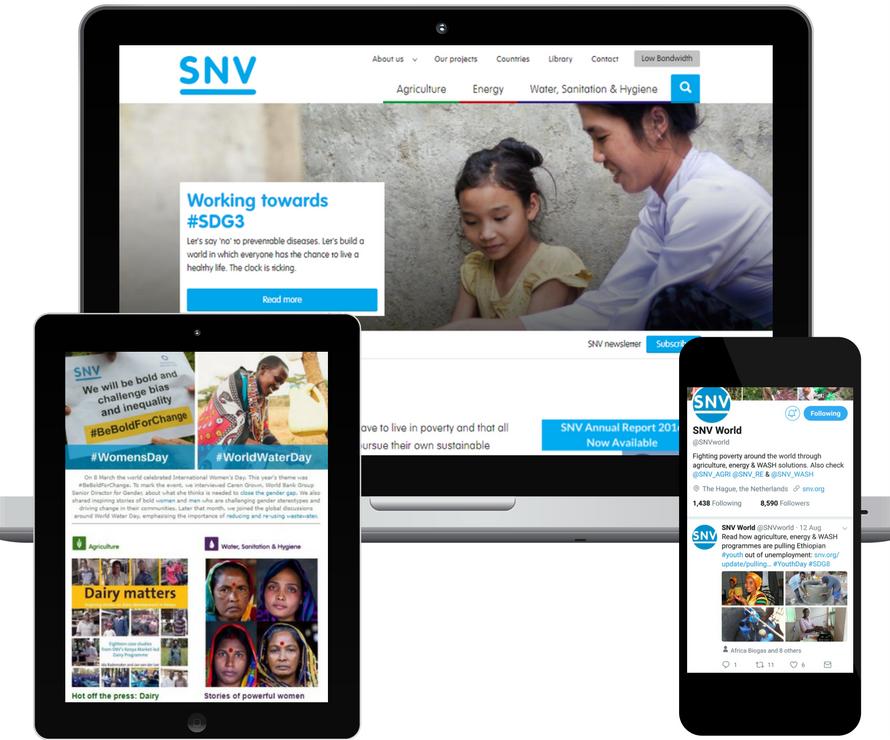 Online campaign SNV