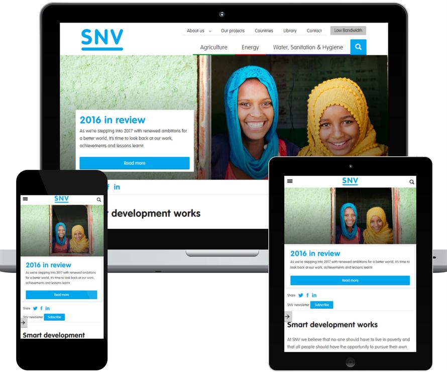 SNV website revamp